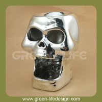 Silver plated ceramic wax incense burner