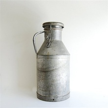"JHB Milk Can 10-3/4"" Galvanized Finish Country Rustic Primitive Jug Vase"