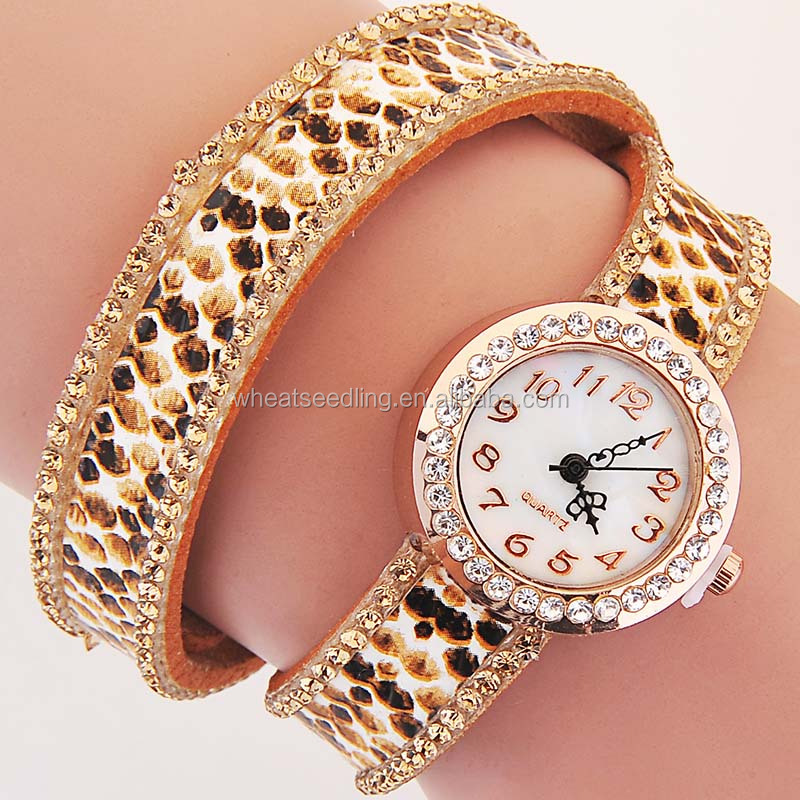 china wholesale leather wrap watches women vintage ladies watches 3-xc9-003