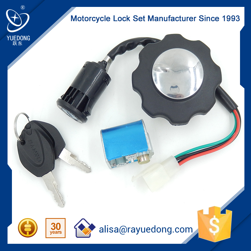 YUEDONG High Quality 125cc Motorcycle Iran Meter CG125 Lock set msd ignition switch fuel tank cap lock for cg125 body parts