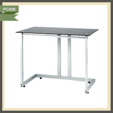 Wall mounted stainless steel tube frame vertical computer table design office desk layouts