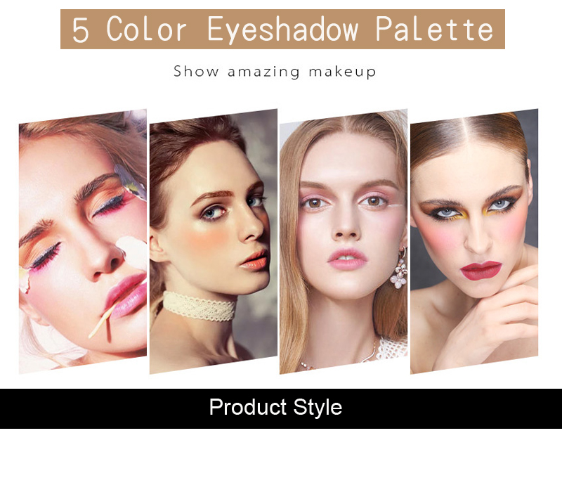 Professional GARMISS 5 Colors Makeup Eyeshadow Palette