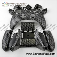 Hydro Dipped Black Silver Carbon Fiber Replacement Housing / Shell Kits For XBOX One Controller