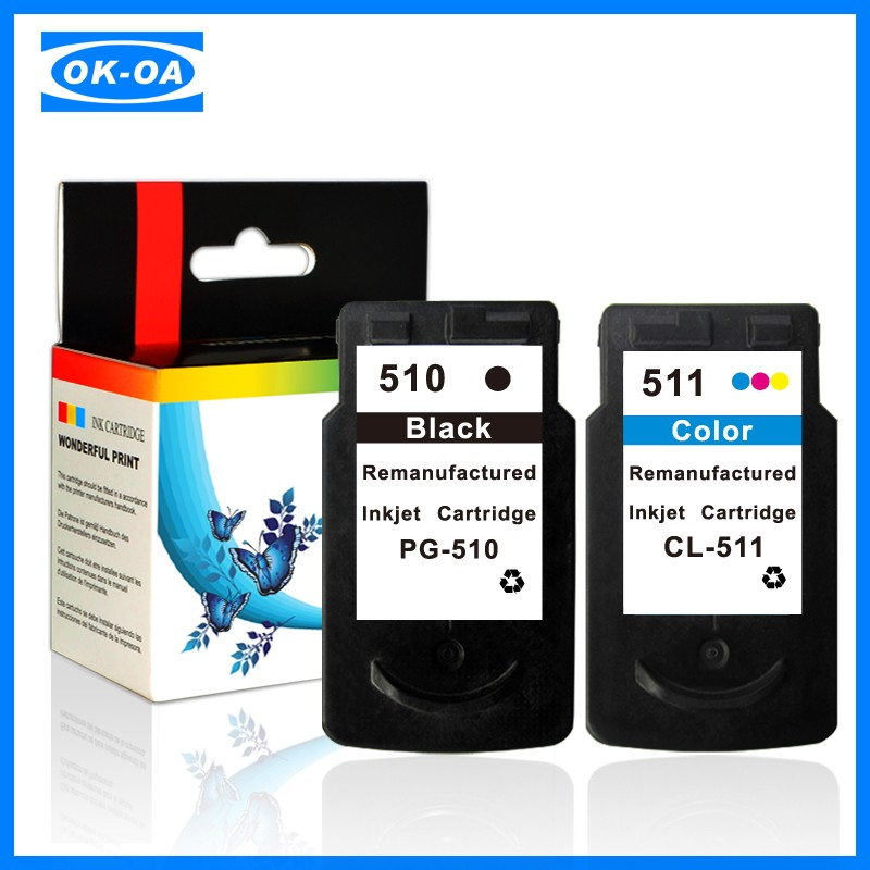 Show ink level print cartridge ink cartridges for canon 511 510 cartridge