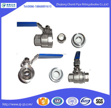 Promotion Stainless Steel BSP Gas pipe fitting ball valve