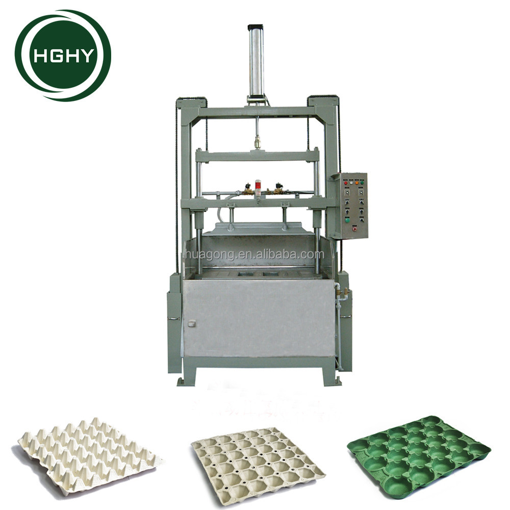 chicken egg tray machine semi automatic production line