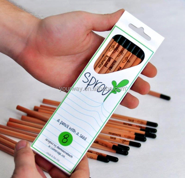 Promotional pens pencil with seeds