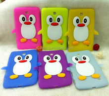 "Smart penguin silicone case cover for Samsung Galaxy Tab 4 7"" T230"