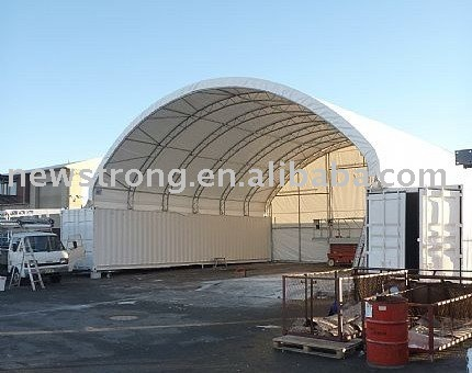 Outdoor Metal PVC Container Canopy