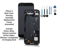 Black White Gold New Rear Housing Back Battery Door Cover Middle Mid Frame Replacement for iPhone 5