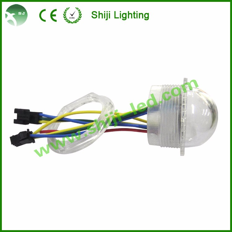 9 LED 35mm Programmable Full Color RGB 9Leds Strawhat RGB LED Pixel Light With Lock Ring
