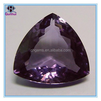 purple triangle shaped cubic zirconia stone