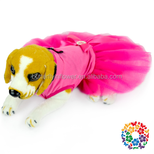 Hot Pink Dresses Dog Apparel Pet Party Clothes, Pet Clothes For Dogs, Pet Costumes