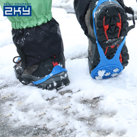 New S M L XL 4 Size Universal Ice No Slip Snow Shoe Spikes Grips Cleats Crampons Winter Climbing No Slip Shoes Cover
