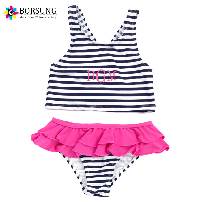 Two Piece Personalized Kids Girls Bathing Suits,Kids Swimwear, Hot Girls Summer Swimsuits