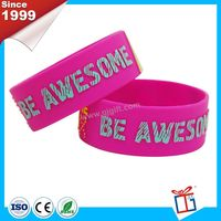 Alibaba president one inch wide custom silicone wristband