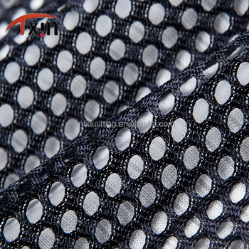 Tear resistant polyester big hole mesh fabric for garment and bag, mesh chair fabric