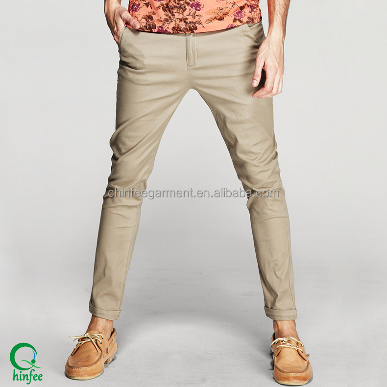 Guangzhou The Men Chino Casual Khaki Trousers