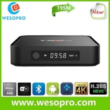 T95M install free play store app s905 amlogic 4k T95M 1GB Rom 8GB flash android 5.1 smart tv box