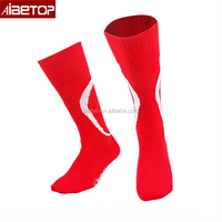 2018 Top quality fashion socks men club polyester plain sport compression football red soccer socks,name brand socks