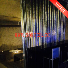 high quality hot sale fancy metal sequin fabric curtain