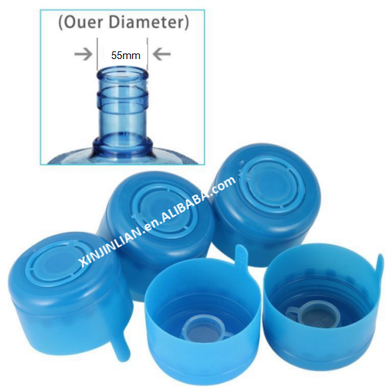 5 Gallon Waterfles Snap op Cap Anti Splash loslaten Tops Vervanging 55mm