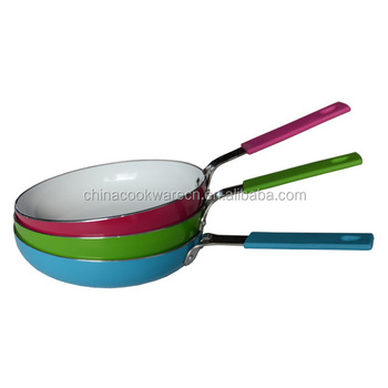 Multi-function ceramic coating colored mini frying pans