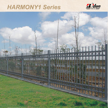 Corrosion resistant galvanized steel picket fence