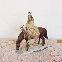 make your own design resin figure manufacturer/custom made vintage native american poly resin figurine low price