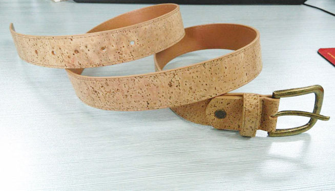 Boshiho Fashion and Eco-friendly Stainless Buckle Men's Cork Belt