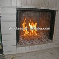 KAHO ceramic glass fireplace doors for sale
