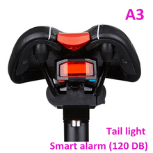 high quality antusi A3 anti theft bike bicycle smart rear tail light with alarm