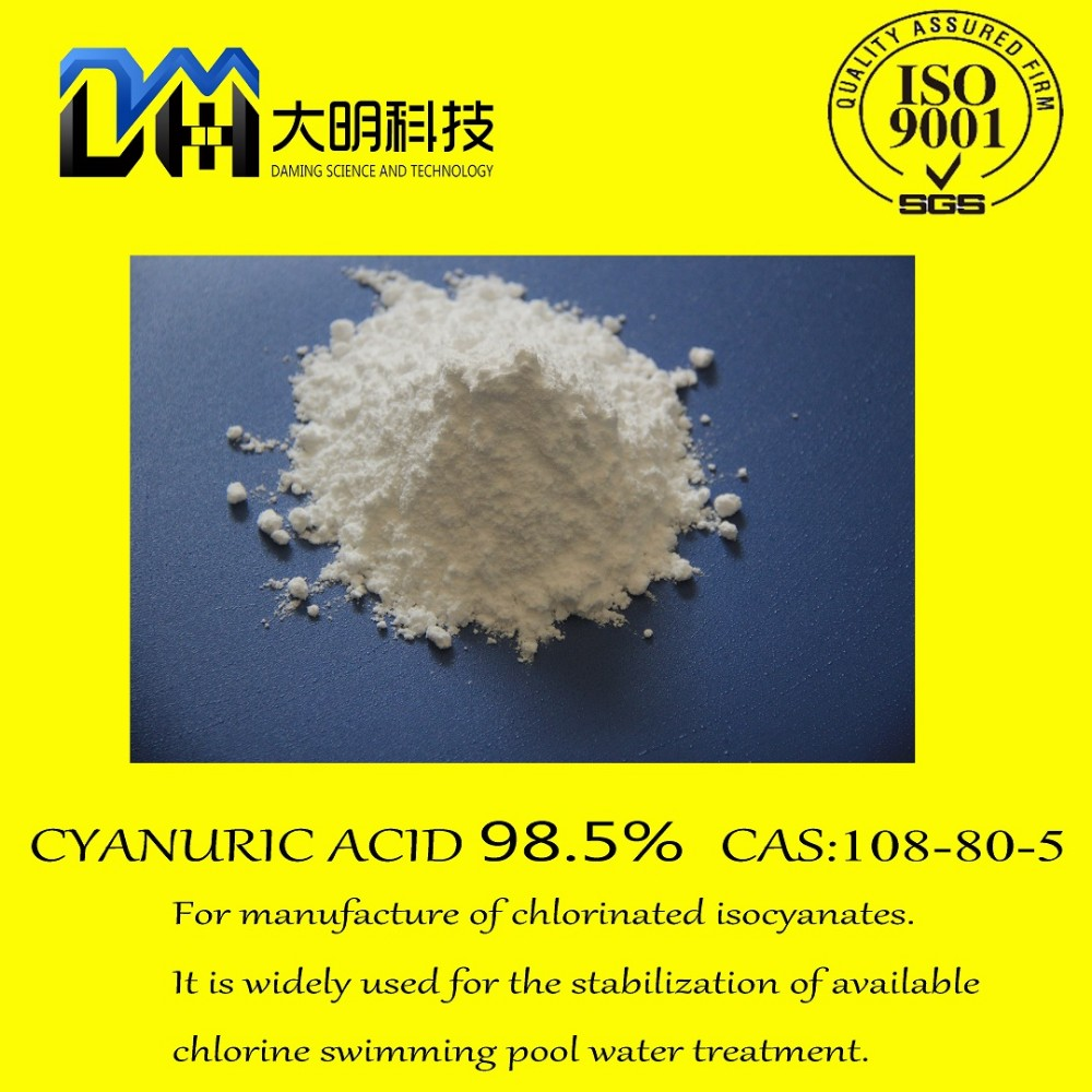 cyanuric acid98.5 used for synthesis of cyanuric acid - formaldehyde resin
