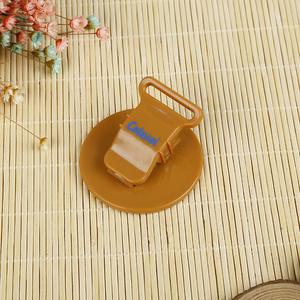 Round or heart shape of customized plastic spring clip food clip