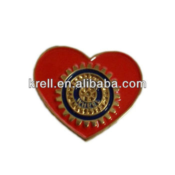 customized rotary lapel pin with 3D writting in cheap price and fast delivery