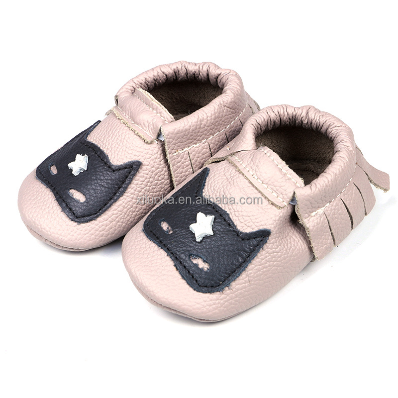 black cat infant shoes toddler newborn leather baby shoes