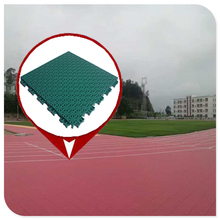 CE Standard modular pp raw materials used outdoor interlocking basketball flooring