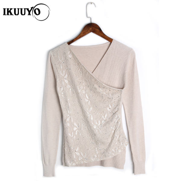 Fashion design woman knit cashmere woolen ladies sweater