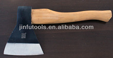 Forged Russian type axe with wooden handle