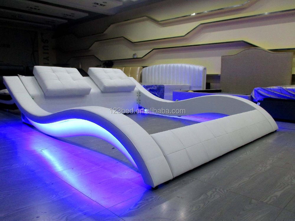 A021 1 nice design hot sale sexy modern led bed buy led for Unusual king size beds