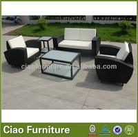 Water proof anti UV rattan sofa for outdoor indoor living