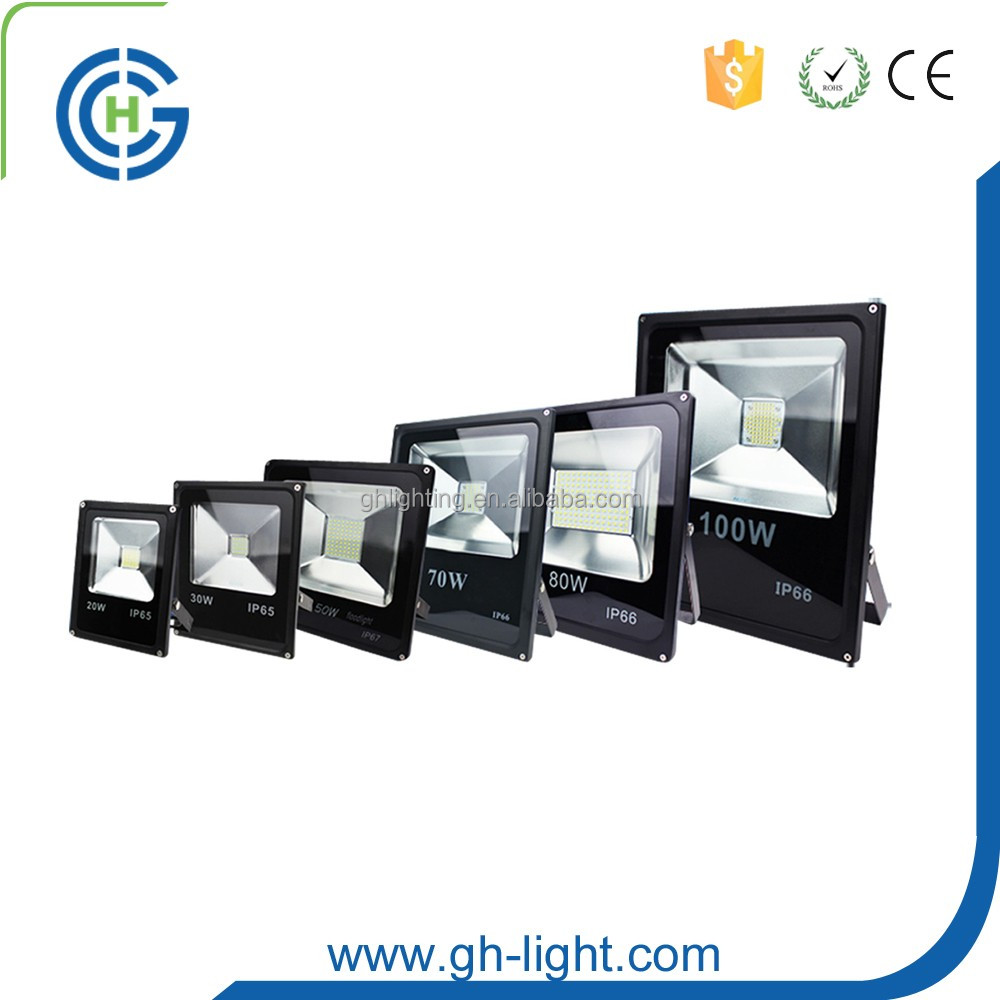 China suppliers CE RoHS IP65 10w 20w 30w 50w 100W 150w 200w 300w cob smd outdoor led flood light
