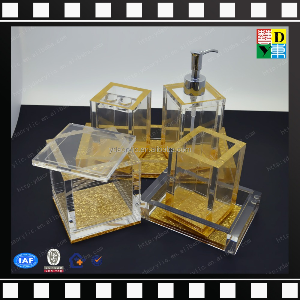 manufacturer buy cheap bathroom accessories sets clear acrylic