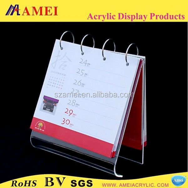 2015 factory direct tabletop acrylic ring binder stand