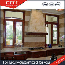 Wood aluminum window and door sample double glass window pictures