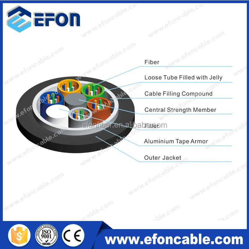 Aluminium Tape Armoured 4 12 core Gopher Protected Fiber Optic Cable with armoured cable specifications