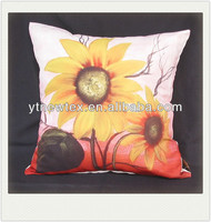 new design polyester sunflower printed cushion cover
