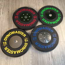 Customized black training bumper plate