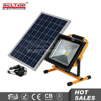 50w portable outdoor movable solar rechargeable led flood light
