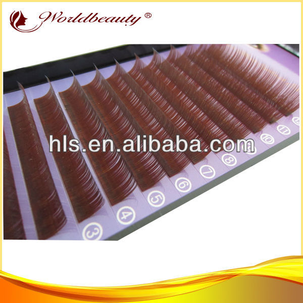 VEAY hot ! Individual Eyelash wholesale false eyelashes colorful mink eyelash extensions